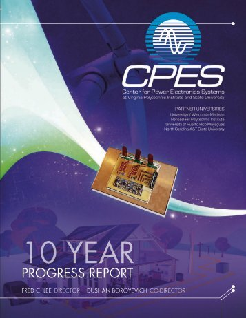 CPES 10-Year Progress Report - Virginia Tech