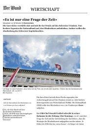 03.06.2012 Schweizer Franken Mindestkurs ist nur eine Frage der Zeit