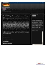 radioclash: Trinidad & Tobago. Carnevale, fango ... - Miraggi Edizioni