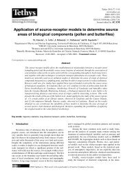 Application of source-receptor models to determine source ... - Tethys