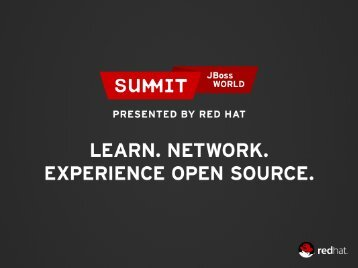 Consume – Open Source Adoption - Red Hat Summit
