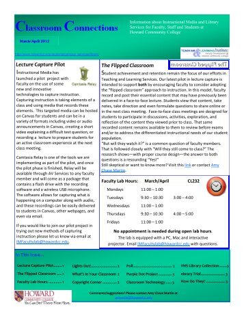 March-April newsletter.pdf - HCCFacultySupport - Wikispaces