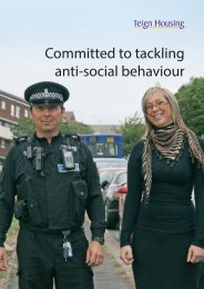 Committed to tackling anti-social behaviour - Teign Housing