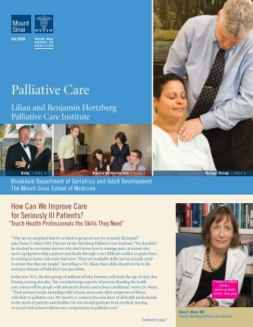 Palliative Care - Mount Sinai Hospital