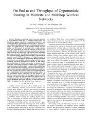 On End-to-end Throughput of Opportunistic Routing in Multirate and ...