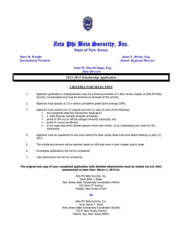 Scholarship Instructions & Application - Zeta Phi Beta Sorority, Inc ...