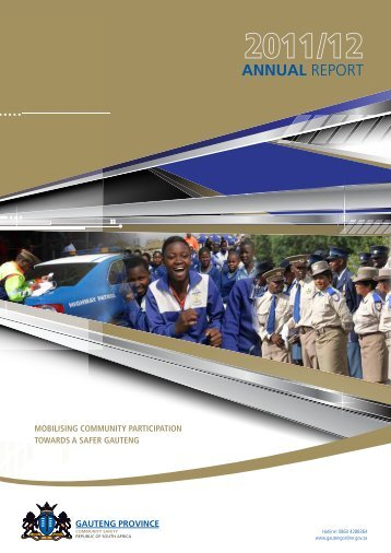 Community Safety Annual Report 2011-2012 - Gauteng Online