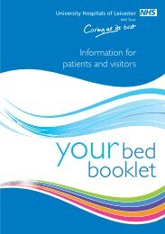 Leicester Royal Infirmary Bedside Information for Patients - Library