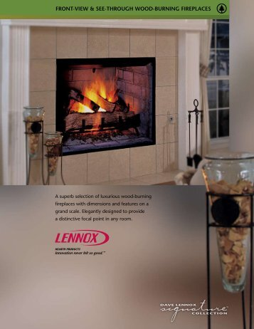 FRONT-vIew & See-ThROugh wOOD-buRNINg FIRePlAceS