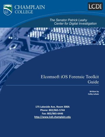 Elcomsoft iOS Forensic Toolkit Guide - Computer and Digital Forensics