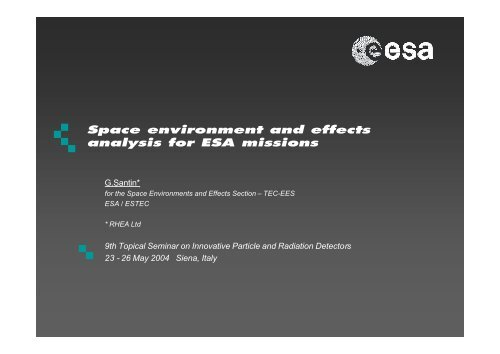 Space environment and effects analysis for ESA missions - Geant4