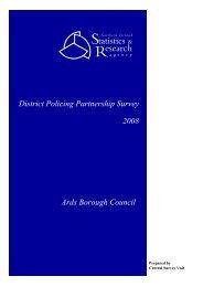 District Policing Partnership Survey 2008 Ards Borough Council