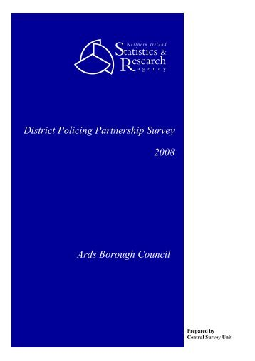 District Policing Partnership Survey 2008 Ards Borough Council