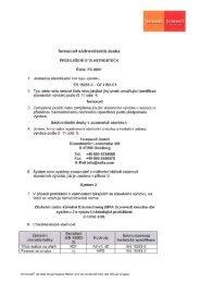 prohlášení o vlastnostech - Fermacell