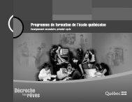 Programme de formation de l'école québécoise - UQAM