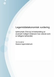 Yervoy - Statens legemiddelverk