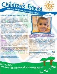 Winter 2009 Newsletter - Children's Friend