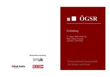 Symposium Programm 2009 für Einladung - Österreichische ...