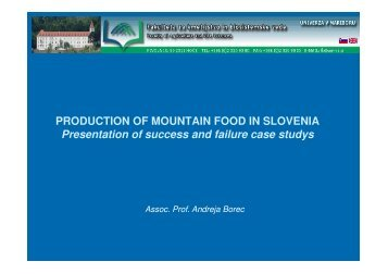 Marketing of mountain food products - Produit de Montagne