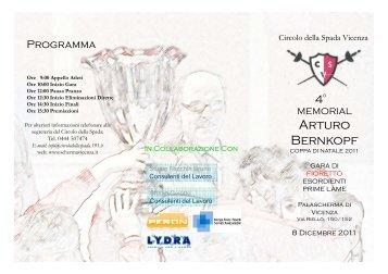 Depliant gara del 18/11/2011
