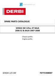 SENDA 125 SM 7077CH08007 SPARE PARTS CATALOGUE ...