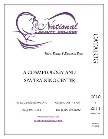 CATALOG - National Beauty College
