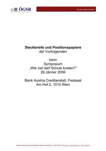 Steckbriefe und Positionspapiere - Österreichische Gesellschaft für ...