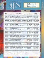 Calendar of Conventions - Nursing Center