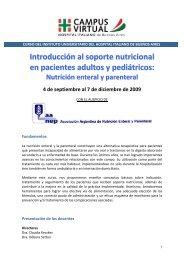 Introducción al soporte nutricional en pacientes ... - Campus Virtual