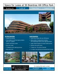 Space for Lease at 50 Braintree Hill Office Park - Flatleyco.com