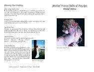 Michael Francis Salon & Day Spa Bridal Menu