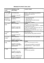 projektni dnevi 2012 /2013