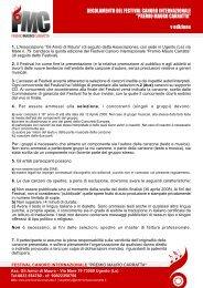 """1. L'Associazione """"Gli Amici di Mauro"""" (di seguito ... - LatinaEventi.it"""