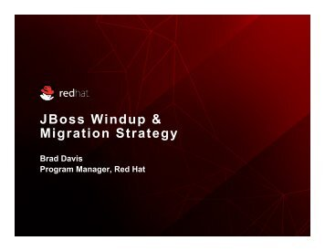 JBoss Windup & Migration Strategy - Red Hat Summit