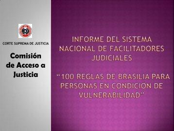 Informe del sistema nacional de facilitadores ... - Poder Judicial