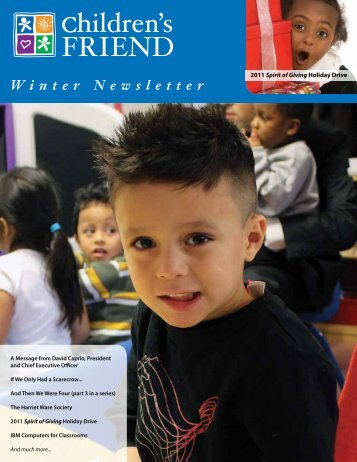 Winter 2012 Newsletter - Children's Friend