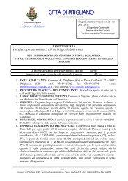 Schema Bando di gara - Comune di Pitigliano