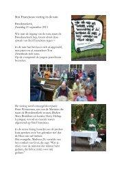 Sint Franciscus viering in de tuin - Heilige Lebuinus