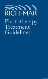 Phototherapy Treatment Manual - Rich-Mar Corporation