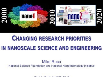 WHAT IS NANOTECHNOLOGY - Institute for Critical Technology ...