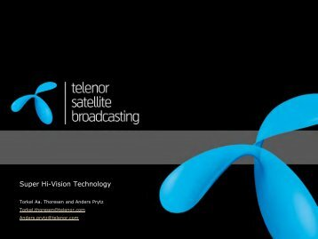Title page - Telenor Satellite Broadcasting