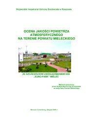 ocena jakości powietrza atmosferycznego na terenie powiatu ...