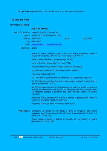 Curriculum Vitae Europass - Comune di Pitigliano