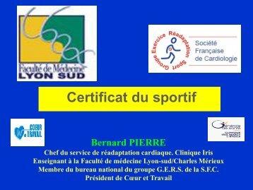 Certificats du sportif - Les Jeudis de l'Europe