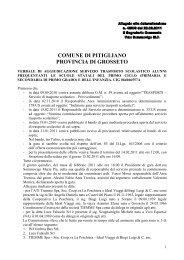 Verbale gara trasporto scolastico - Comune di Pitigliano