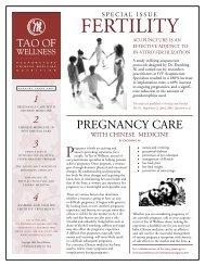 Fertility Newsletter 2005 - Tao of Wellness