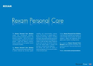 Personal Hygiene product catalogue - English version