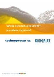 Optické měřící technologie SIGRIST pro aplikace v pivovarech