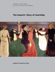 Experts Story of Courtship - Institute for American Values