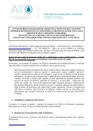 IL Direttore dell'Ufficio d'Ambito della Provincia di Milano – Viale ...